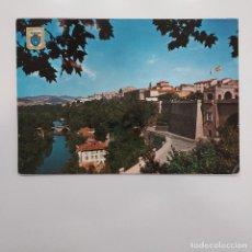 Postales: POSTAL PAMPLONA. PAISAJE SOBRE EL RIO ARGA Y PORTAL NUEVO (NAVARRA) 1963. CIRCULADA 1964. Nº 2. Lote 279424058