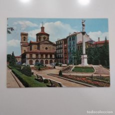 Postales: POSTAL PAMPLONA. IGLESIA DE SAN LORENZO Y MONUMENTO A LA INMACULADA (NAVARRA) CIRCULADA 1968. Nº 27. Lote 279425983