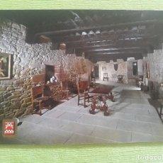 Postales: CASTILLO DE XABIER - Nº 5 - SALA PRINCIPAL - ESCUDO DE ORO. Lote 279594178