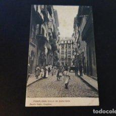 Postales: PAMPLONA CALLE DE ZAPATERIA. Lote 286977493