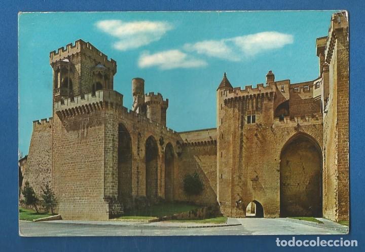 POSTAL CIRCULADA OLITE 9856 NAVARRA EDITA POSTALES VAQUERO (Postales - España - Navarra Moderna (desde 1.940))