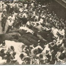 Postais: POSTAL Nº 39 PAMPLONA ENCIERRO DE LOS TOROS ZARAGOZA 1950. Lote 287661318