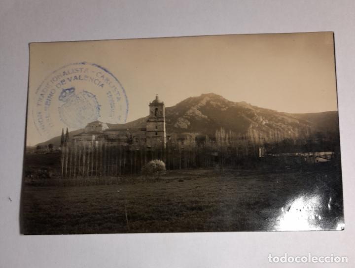 Postales: postal monasterio de irache al fondo montejurra - cuño comunion tradicionalista carlista de valencia - Foto 2 - 287670593
