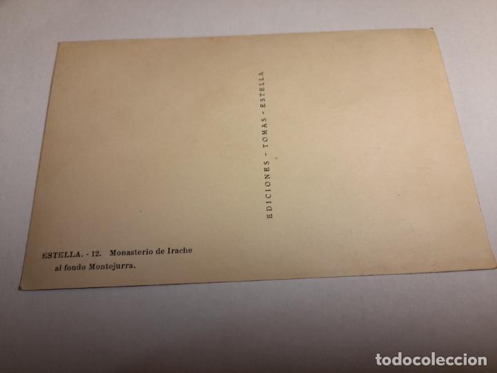 Postales: postal monasterio de irache al fondo montejurra - cuño comunion tradicionalista carlista de valencia - Foto 3 - 287670593