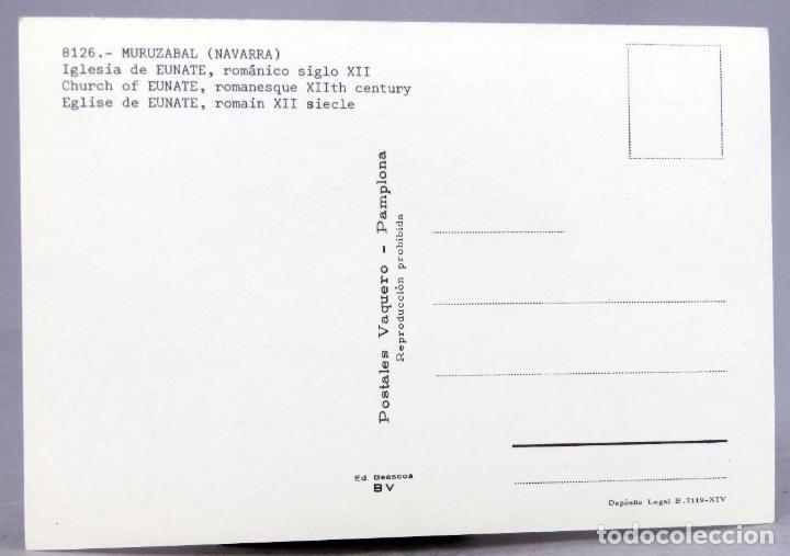 Postales: Postal Muruzabal Iglesia románica Eunate S XII Beascoa Vaquero años 70 sin circular - Foto 2 - 288665058