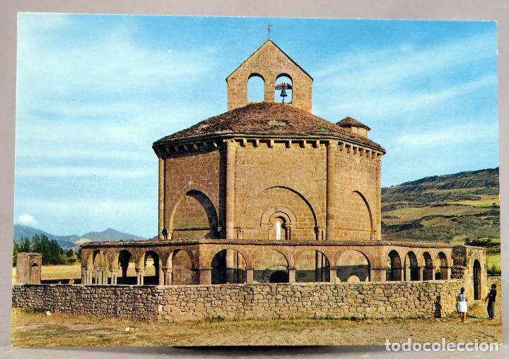 POSTAL MURUZABAL IGLESIA ROMÁNICA EUNATE S XII BEASCOA VAQUERO AÑOS 70 SIN CIRCULAR (Postales - España - Navarra Moderna (desde 1.940))