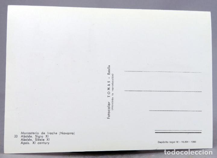 Postales: Postal Monasterio de Irache Abside S XI Fotocolor Tomás 1966 sin circular - Foto 2 - 288665203