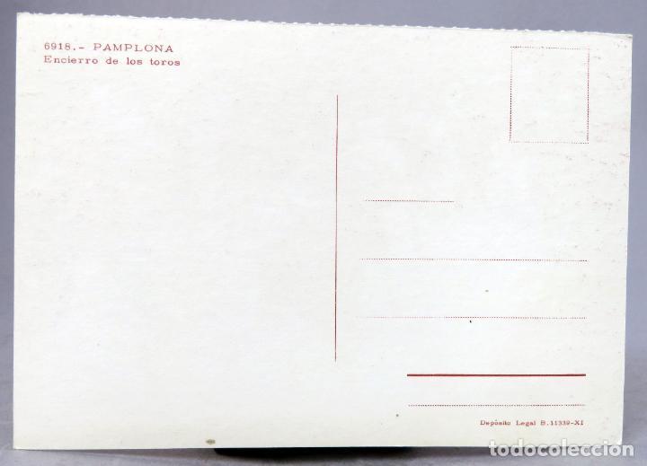 Postales: Postal Pamplona Encierro de los toros sin editor años 60 sin circular - Foto 2 - 288666823
