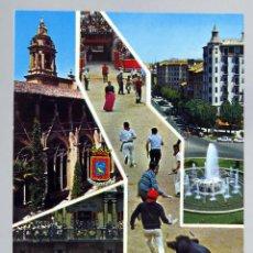 Postales: POSTAL PAMPLONA FIESTAS SAN FERMÍN ENCIERRO TOROS VISTAS KOLOR ZERKOWITZ AÑOS 60 SIN CIRCULAR. Lote 288667683