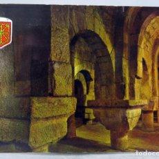 Postales: POSTAL MONASTERIO DE LEYRE CRIPTA CAROLINGIA S IX FOTO PEÑARROYA AÑOS 60 SIN CIRCULAR. Lote 288668243
