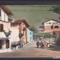 Postales: VALCARLOS II PUENTE INTERNACIONAL Y ESCUELAS DE PECOCHETA. NAVARRA (PAMPLONA) (ESPAÑA). Lote 293740458