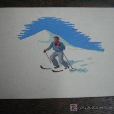 Postales: FELICITACION DE NAVIDAD PINTADA . Lote 5690233