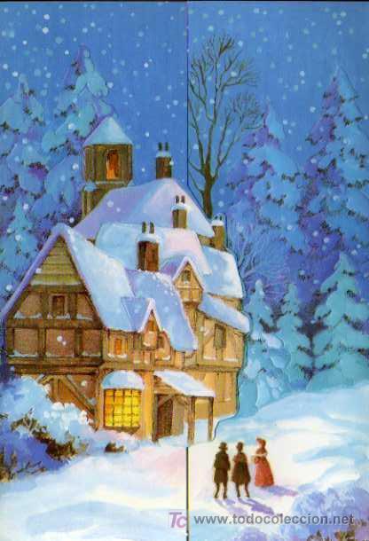 FELICITACIÓN NAVIDEÑA - DÍPTICO - PUBLICIDAD HOTEL EUROBUILDING (Postales - Postales Temáticas - Navidad)