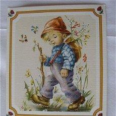 Postales: POSTAL DE NAVIDAD CON POESIA. Lote 48664946
