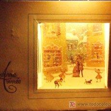 Postales: DIORAMA POSTAL DE NAVIDAD - EXCEPCIONAL BELLEZA. PARÍS 1954 AÑOS 50 VINTAGE BARCELONA NOEL. Lote 20451562