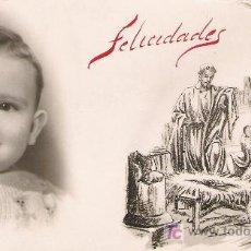Postales: IMAGEN DE NIÑO Y BELEN. AÑO 1960.. Lote 6672553