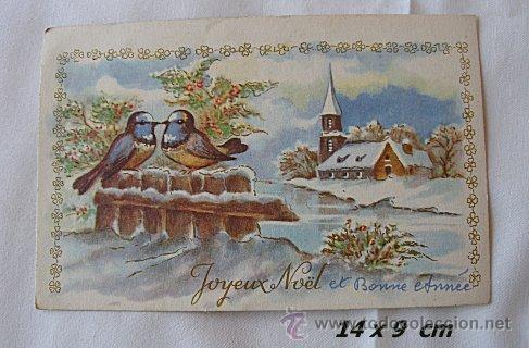 Postal de navidad antigua paisaje nevado comprar - Paisaje nevado navidad ...
