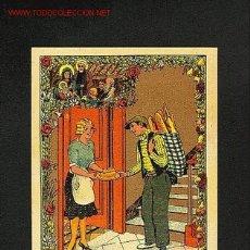 Postales: FELICITACION NAVIDEÑA DE OFICIOS: EL PANADERO. Lote 5320341