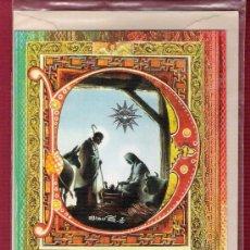 Postales: DÍPTICO DE NAVIDAD PARA NIÑOS ILUSTRADO - ESTRELLA PLATEADA EN RELIEVE - SUBI. Lote 11682548