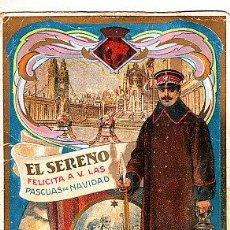Postales: POSTAL DE OFICIOS DE NAVIDAD EL SERENO . Lote 12734614