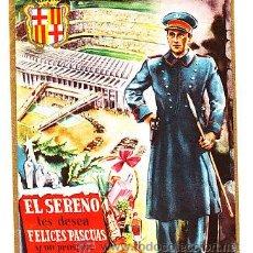 Postales: POSTAL DE OFICIOS DE NAVIDAD EL SERENO CAMP DEL BARÇA. Lote 12734650