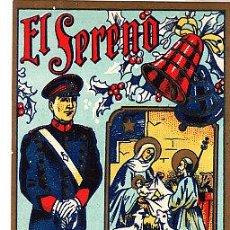 Postales: POSTAL DE OFICIOS DE NAVIDAD EL SERENO . Lote 12734670