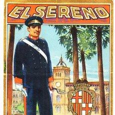Postales: POSTAL DE OFICIOS DE NAVIDAD EL SERENO . Lote 12734720