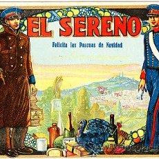 Postales: POSTAL DE OFICIOS DE NAVIDAD EL SERENO . Lote 12734727