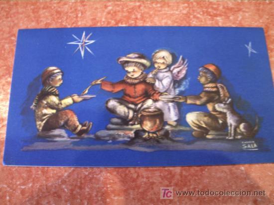 BONITA POSTAL DE NAVIDAD. SIN USAR. EDICION ESPAÑOLA. DIBUJO CARMEN SALA (Postales - Navidad)