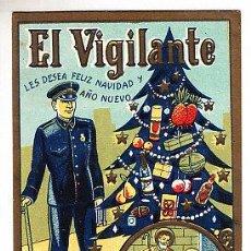 Postales: POSTAL DE OFICIOS DE NAVIDAD EL VIGILANTE. Lote 12748585