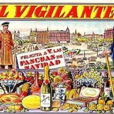 Postales: POSTAL DE OFICIOS DE NAVIDAD EL VIGILANTE. Lote 12748604