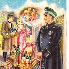 Postales: POSTAL DE OFICIOS DE NAVIDAD EL VIGILANTE DIPTICO LA MORENETA. Lote 12748715