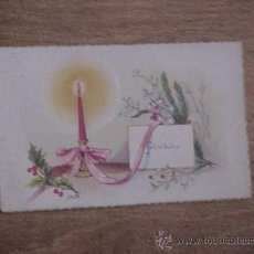 Postales: ANTIGUA TARJETA DE FELICITACION NAVIDEÑA TAMAÑO: 6 X 10,5 CM.. Lote 13713294