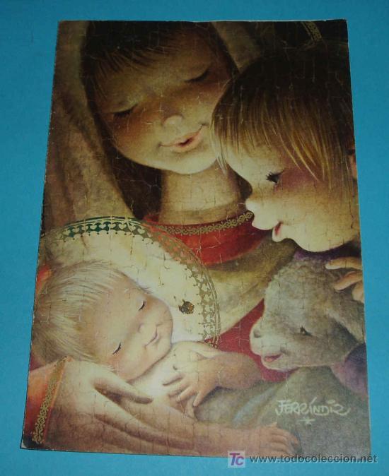 POSTAL FERRANDIZ. ESCRITA EN SU INTERIOR. AÑO 1962 (Postales - Postales Temáticas - Navidad)