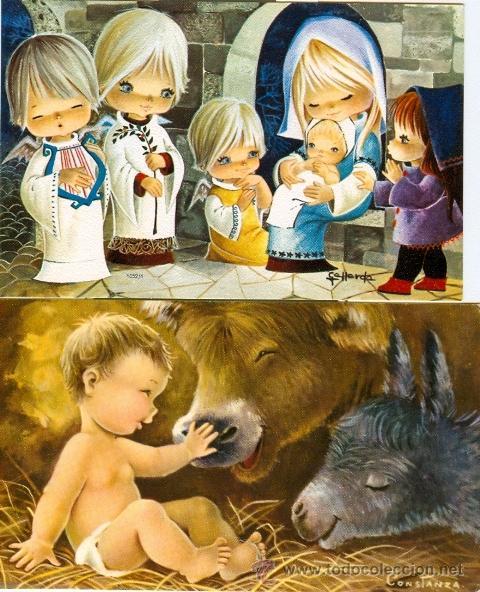 Resultado de imagen de postales de navidad antiguas