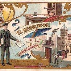 Postales: FELCITACION NAVIDAD EL REPARTIDOR DE LA VANGUARDIA . Lote 16270392