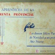 Postales: ANTIGUA FELICITACION NAVIDAD Y AÑO NUEVO, APRENDICES IMPRENTA, LAS PROVINCIAS, PERIODICO, VALENCIA. Lote 17119665