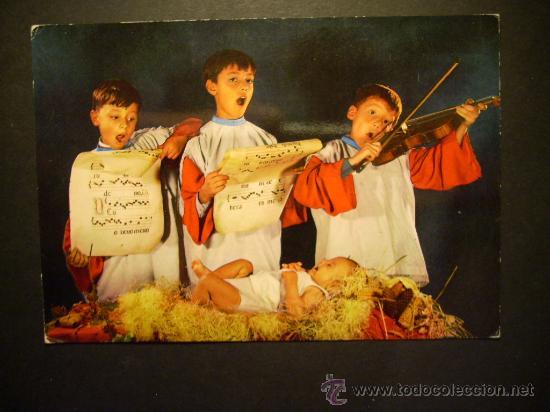 1990 NIÑOS CHILDREN ENFANTS CANTANDO VILLANCICOS DE NAVIDAD AÑOS 70/80 - MIRA MIS OTROS ARTÍCULOS (Postales - Postales Temáticas - Navidad)