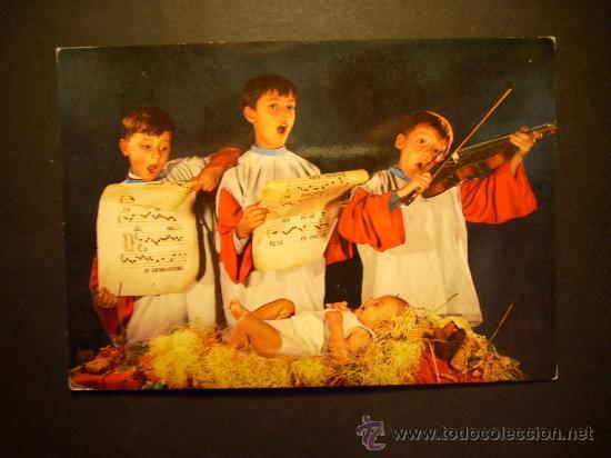 1991 NIÑOS CHILDREN ENFANTS CANTANDO VILLANCICOS DE NAVIDAD AÑOS 70/80 - MIRA MIS OTROS ARTÍCULOS (Postales - Postales Temáticas - Navidad)