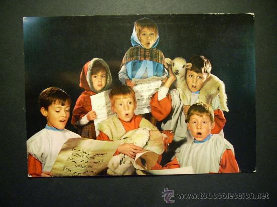 1993 NIÑOS CHILDREN ENFANTS CANTANDO VILLANCICOS DE NAVIDAD AÑOS 70/80 - MIRA MIS OTROS ARTÍCULOS (Postales - Postales Temáticas - Navidad)