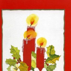 Postales: TARJETA NAVIDEÑA ARTIS MUTIS Nº E310. VELAS. DE UN ORIGINAL PINTADO CON LA BOCA. Lote 18067689