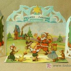 Postales: ANTIGUA POSTAL NAVIDEÑA, NAVIDAD, TROQUELADA, FELICES PASCUAS. Lote 18861563
