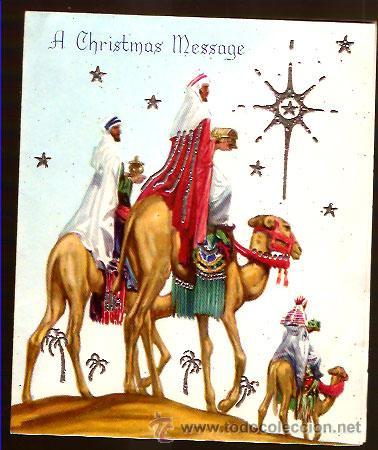 Felicitaciones De Navidad Con Los Reyes Magos.Felicitacion Navidad Inglesa Reyes Magos Vendido En
