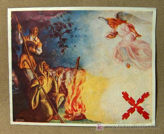 TARJETA NAVIDEÑA, MANUEL FAL CONDE, TRADICIONALISTA, REQUETE, NAVIDAD DE 1944 (Postales - Postales Temáticas - Navidad)