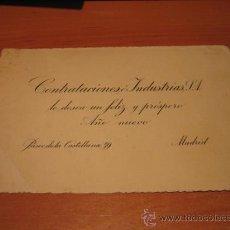 Postales: CONTRATACIONES INDUSTRIAS LES DESEA FELIZ Y PROSPERO AÑO NUEVO PASEO DE LA CASTELLANA 59 MADRID. Lote 19962241