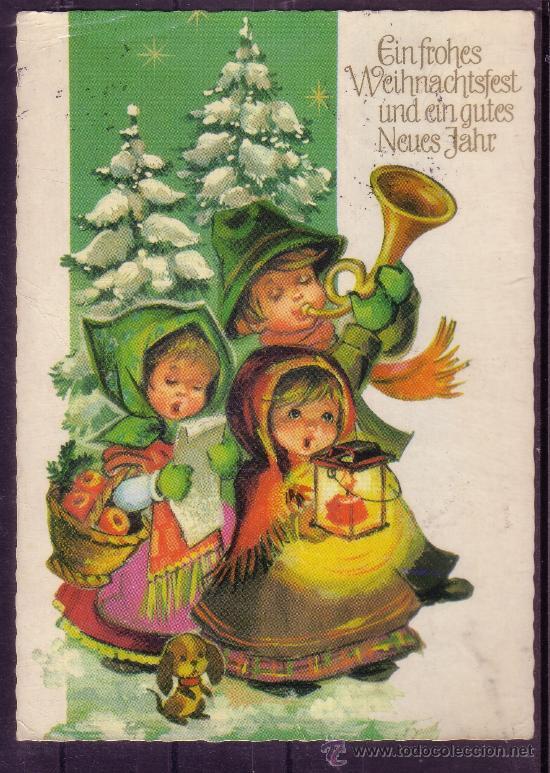 Postal alemana con motivos navide os comprar postales - Tarjetas con motivos navidenos ...