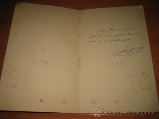 Postales: TARJETA DE FELICITACION NAVIDEÑA 1964 PAPA NOEL EMPAQUETANDO ZAPATOS - Foto 3 - 24480838