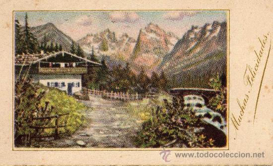 POSTAL PEQUEÑA DE NAVIDAD ESCRITA AÑO 1946 (Postales - Postales Temáticas - Navidad)