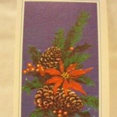 Postales: BONITA FELICITACION DE NAVIDAD. FLORES. DIPTICO. ESCRITA 1983. Lote 25247942