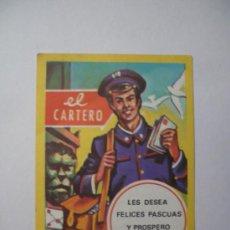Postales: POSTAL FELICITACION NAVIDAD EL CARTERO. Lote 27348570